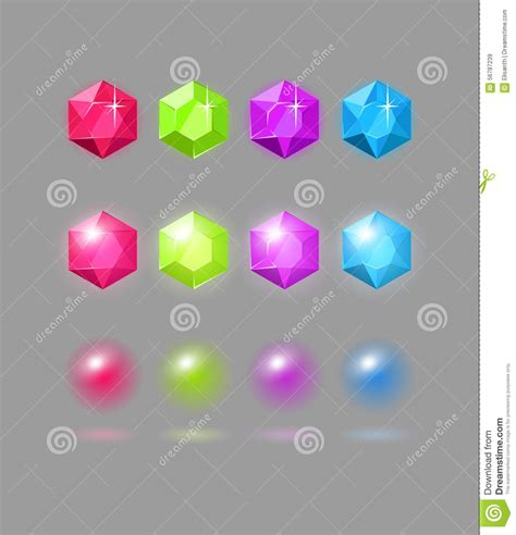 home design game how to get gems vector set of colorful gems stock vector image 56787239