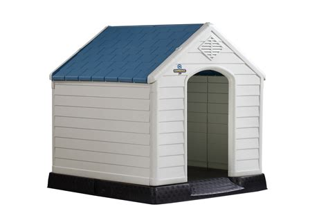 outdoor dog houses for winter confidence pet xl waterproof plastic dog kennel outdoor winter house extra large ebay