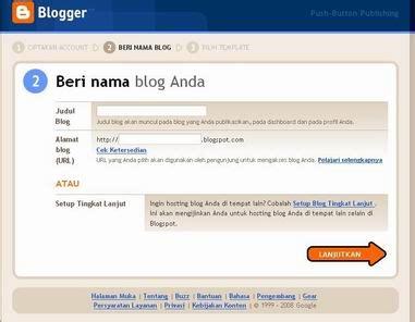 blogger motivasi cara praktis membuat blog gratis saepul gens com