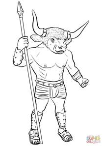 Simple Minotaur Drawings Www Pixshark Com Images Minotaur Coloring Pages