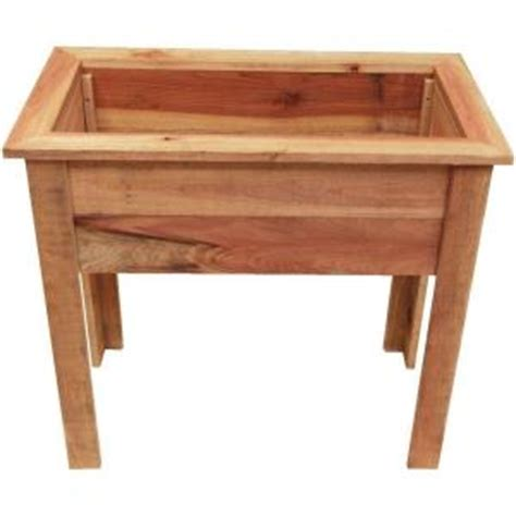 hollis wood products 36 in wood raised planter box
