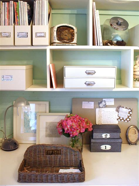 home desk organization chic organized home office for 100 hgtv