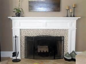 franciscan wood fireplace mantel painted white different