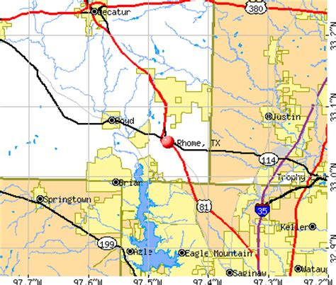 rhome texas map images