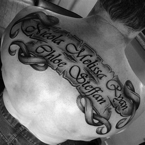 tattoo paper name 60 scroll tattoos for men manly paper design ideas