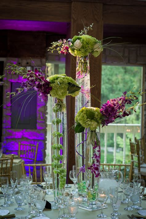 purple and green wedding centerpieces classic purple green ballroom wedding the magazine