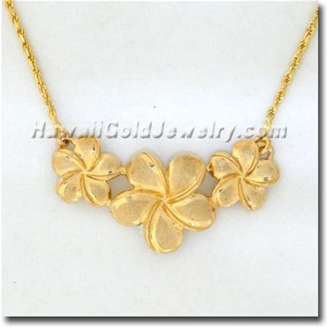 flower design necklace hawaiian flower necklace hawaii gold jewelry hawaiian
