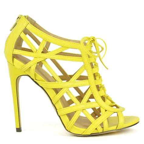 yellow strappy high heels shoes heels high heels high heel sandals yellow heels