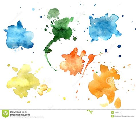 color watercolor blobs stock illustration image of spotted 35650173