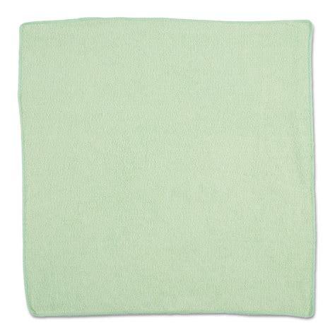 """1820582   Rubbermaid 16"""" x 16"""" Microfiber Cloths, Green"""
