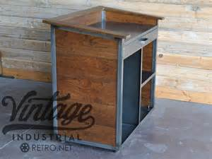 Karl hostess stand vintage industrial furniture