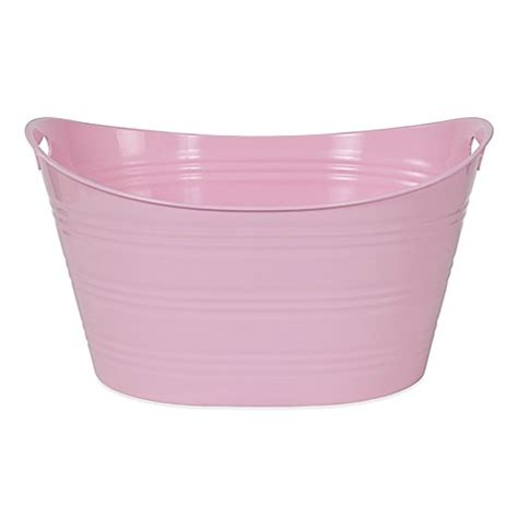 light pink bathroom buy creative bath storage tub in light pink from bed bath beyond