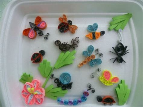 Handmade Craft Ideas Paper Quilling - paper quilling designs for diy bird and insects