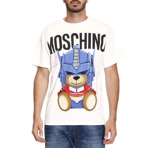 Moschino Tshirt lyst moschino t shirt in white for