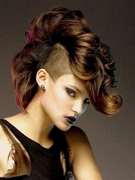 feminine mohawk mohawks hairstyles for women hairstyle archives