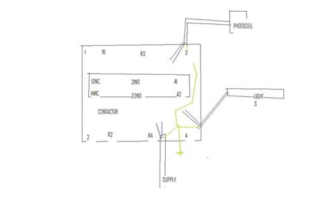 magnetic dpdt relay wiring diagram electrical schematic