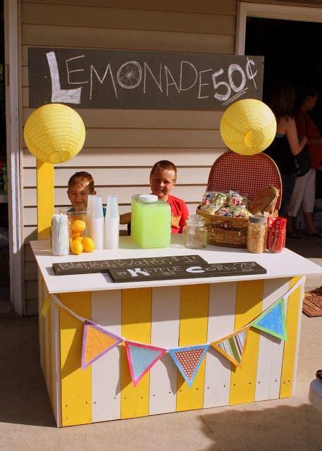 joyful diy lemonade stands  build happily homesthetics
