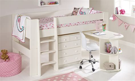 cabin beds for girls solitaire midsleeper with pull out desk chest