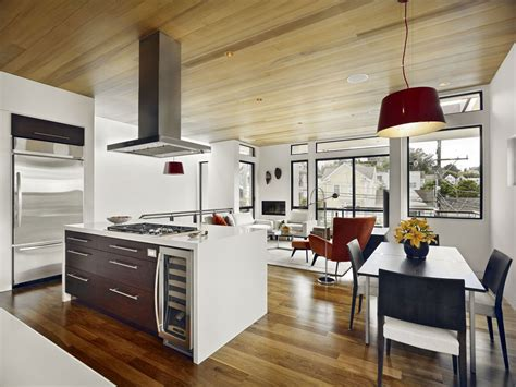 contemporary kitchens world of architecture warm modern vertical home in san francisco