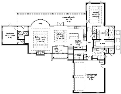 master on main house plans 3 bedroom master down french country 24606gk 1st floor