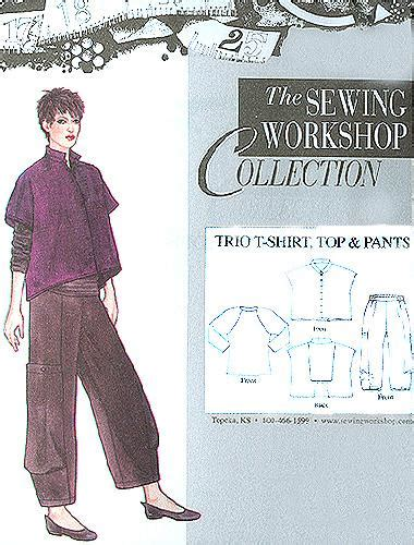 patterns sewing cheap the sewing workshop trio t shirt top pant pattern