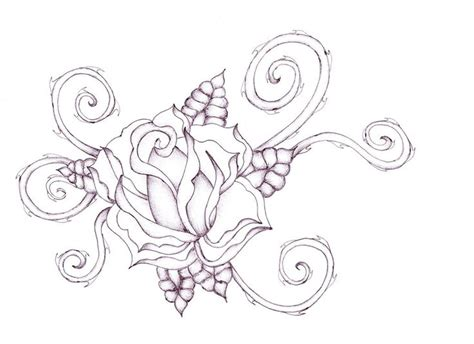 tattoos of roses and thorns roses with thorns drawings spiral thorns by