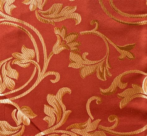 red floral upholstery fabric 1 yard jacquard dark red floral design drapery