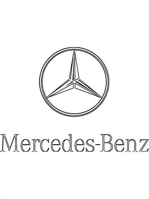 coloring page mercedes benz coloring pages