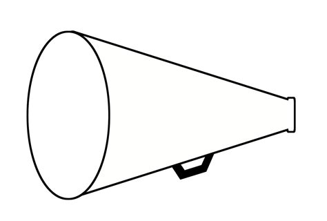 Megaphone Coloring Page free coloring pages of megaphone template