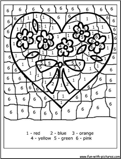 search results for valentine color by number printables