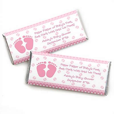 Bar Labels For Baby Shower by Baby Pink Personalized Bar Wrappers Baby