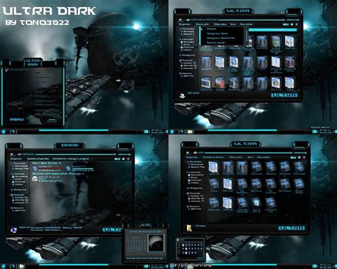 theme windows 7 electric windows 7 theme ultra dark blue glass by tono3022 on