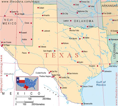 texas and new mexico map celebratethestates blo texas size