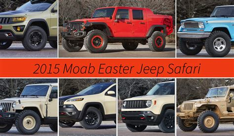 jeep concept vehicles 2015 jeep reveals seven concepts for 2015 moab easter jeep