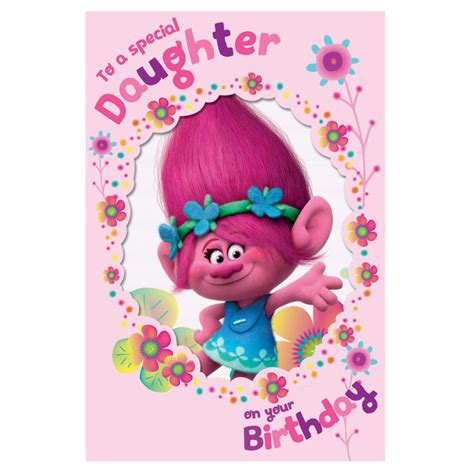 Daughter  Ee  Birthday Ee   Trolls Card  Character Brands