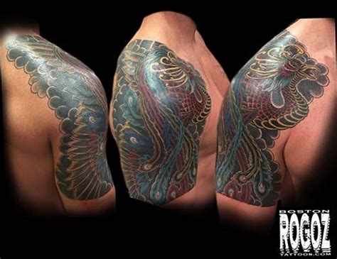 japanese tattoo boston japanese phoenix by boston rogoz tattoonow