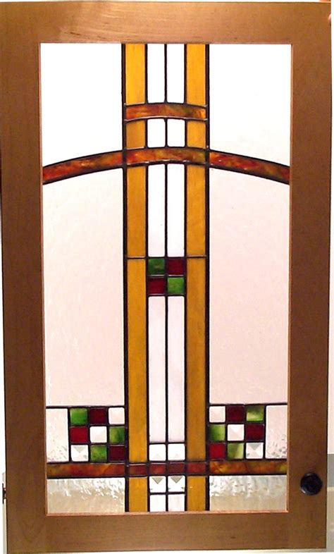 arts and crafts cabinet doors stained glass door painting on glass