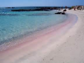 Beaches With Pink Sand Elafonisi Beach Crete World For Travel