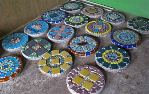 pattern for mosaic stepping stones 7 steps of how to make garden stepping stones hirerush