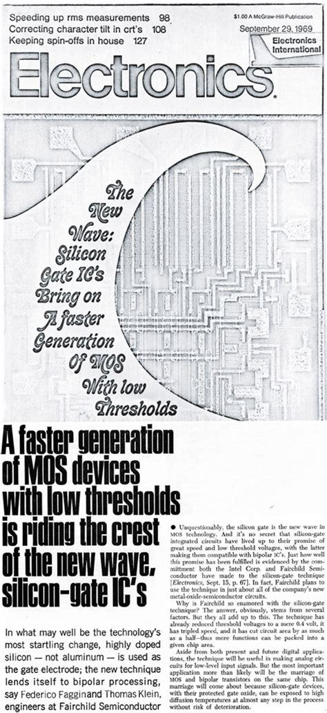 what 1971 integrated circuit has federico faggin s initials federico faggin