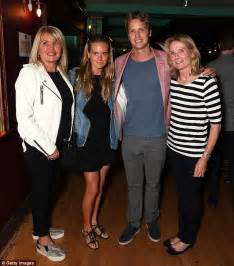 cressida bonas and extended family have a night out at the