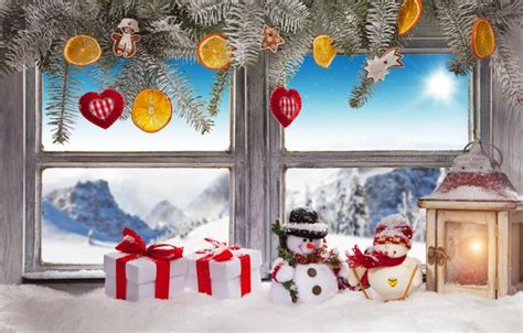 wallpaper winter snow decoration  year window christmas gifts christmas winter snow