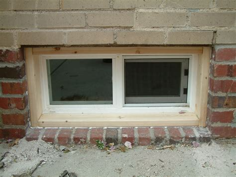 window in basement basement windows exterior trim chris house fixup