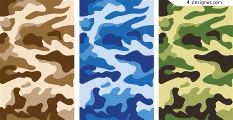 army pattern illustrator 4 designer camouflage background vector material