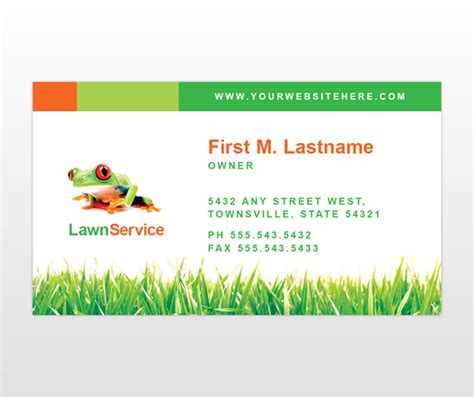 maintenance card template lawn care business cards