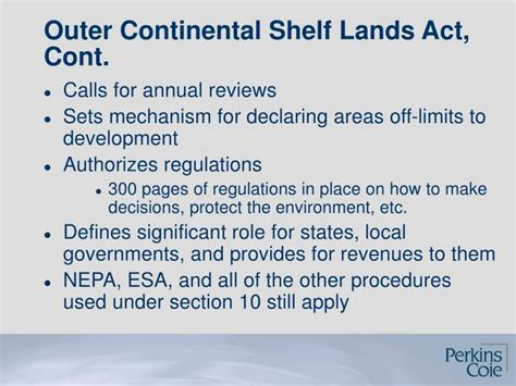 Outer Continental Shelf Act by Ppt Deficiencies In The Review Of The Cape Wind Project