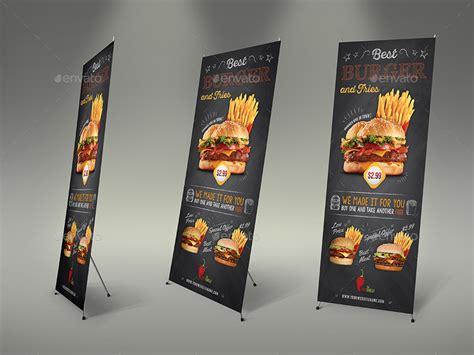 design banner burger burger restaurant advertising bundle vol 3 graphicriver