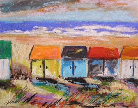beach house paintings colorful beach houses painting by john williams