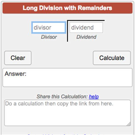 calculator with remainder division answers popflyboys