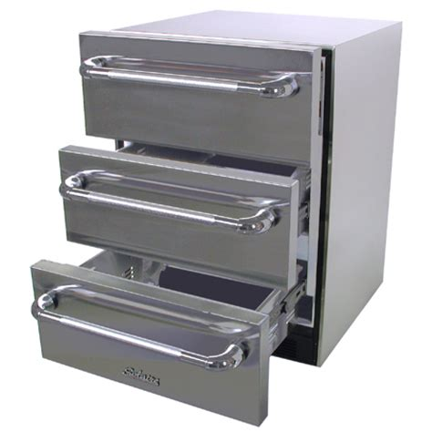 Refrigerated Drawer by Solaire Sol Sp6ds 3d Os Refrigerated 3 Drawers Unit At